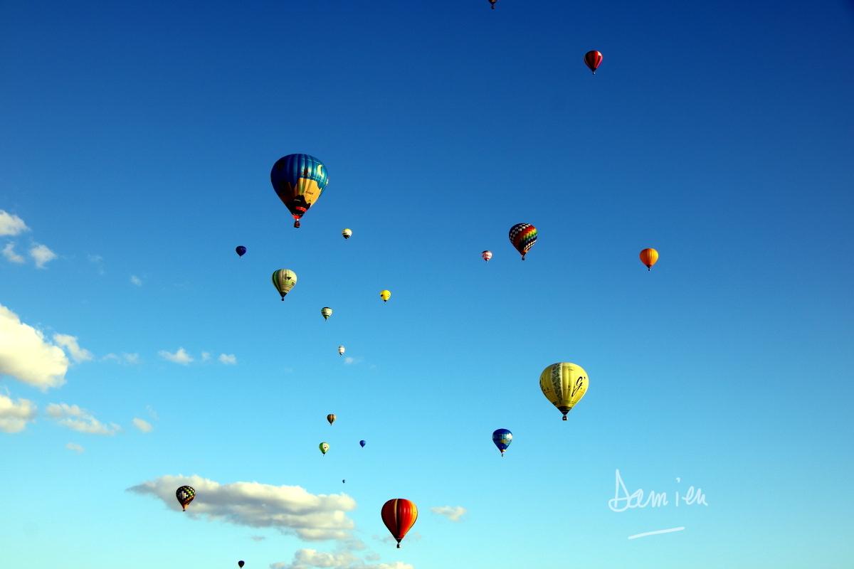 Horizon de montgolfières