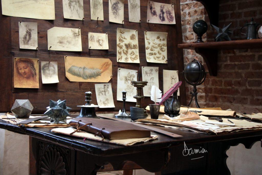 L'atelier de Léonard De Vinci - Le château du Clos Lucé